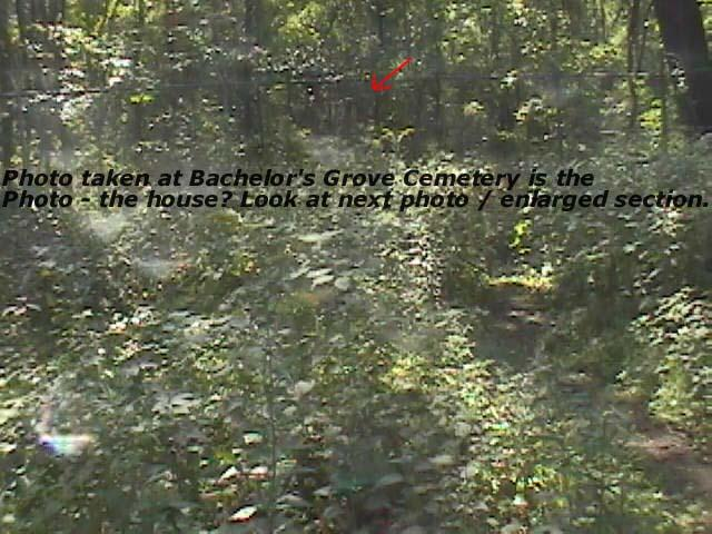 Ghost house at Bachelor's Grove Cemetery.